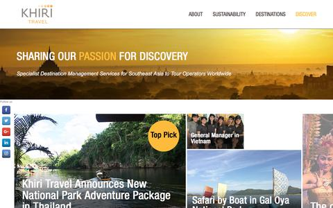 Screenshot of Home Page khiri.com - Khiri Travel - Sharing our Passion for Discovery - captured July 5, 2017
