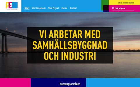 Screenshot of Home Page projektengagemang.se - Start | Projektengagemang - captured Feb. 2, 2016