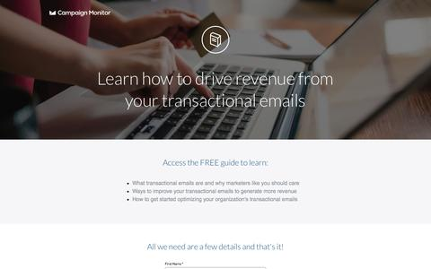 Screenshot of Landing Page campaignmonitor.com - How to send email campaigns that get results - captured Aug. 17, 2016
