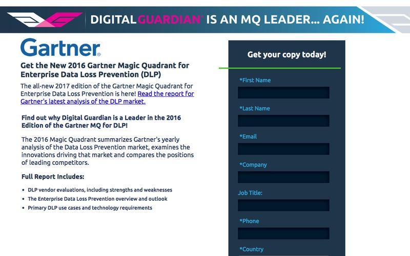 Gartner 2016 DLP MQ Report
