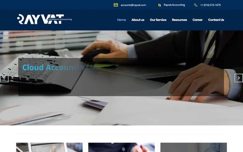 Screenshot of Home Page rayvataccounting.com - Accounts Outsourcing | Accounting Outsourcing Company - captured Oct. 1, 2017