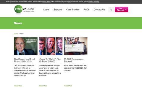 Screenshot of Press Page startuploans.co.uk - Start Up Loans News - Start Up Loans - captured Sept. 1, 2016