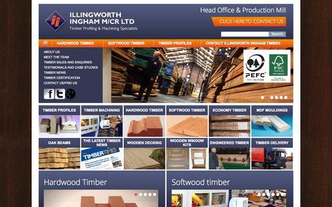Screenshot of Home Page manchestertimbermerchants.co.uk - Timber, Softwood Timber & Hardwood Timbers Manchester - Illingworth Ingham Ltd - captured Jan. 25, 2015