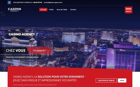 Screenshot of Home Page casino-agency.com - Casino Agency – Un site utilisant WordPress - captured Oct. 26, 2017