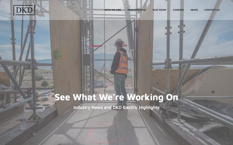 Screenshot of Press Page dkdelectric.com - News - DKD Electric - captured Aug. 5, 2018