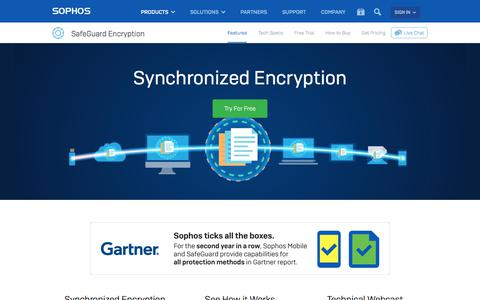 Full Disk Encryption   Always-On Enterprise Encryption Synchronizes Hard Drives, Removable Media and Cloud Storage Protection in Real-Time   Sophos