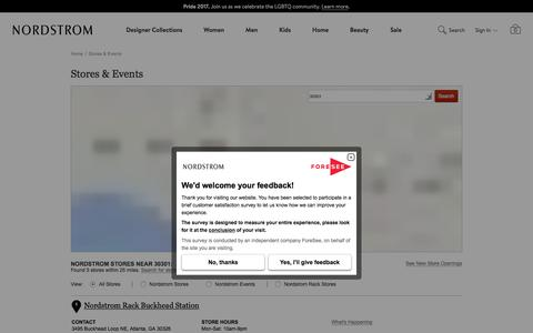Nordstrom Stores: Locations, Hours & Events | Nordstrom