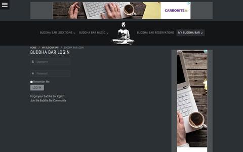 Screenshot of Login Page buddhabarnyc.com - Buddha Bar Login - captured Jan. 7, 2016