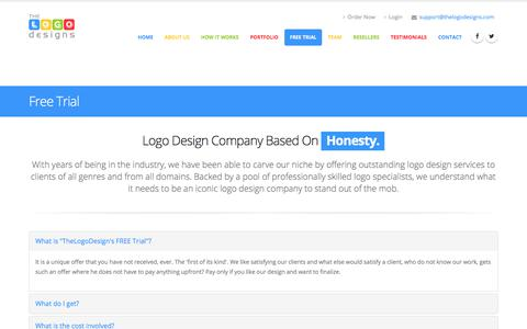Screenshot of Trial Page thelogodesigns.com - Free Trial - The Logo Designs - captured June 17, 2017