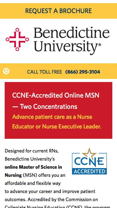 Online Master of Science in Nursing | Benedictine University