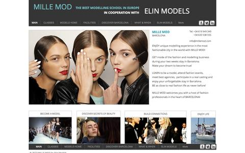 Screenshot of Home Page millemod.com - Modelling experience in Barcelona | Modelling agency - captured Sept. 30, 2014