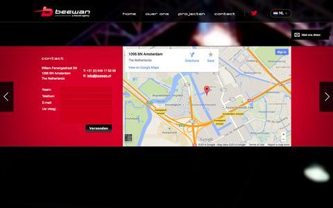 Screenshot of Contact Page beewan.nl - Beewan - Contact - captured Sept. 30, 2014