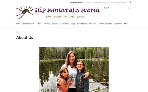 Screenshot of About Page hipmountainmama.com - About Us - captured Dec. 10, 2015