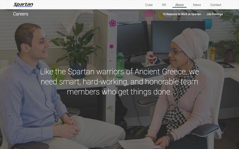 Screenshot of Jobs Page spartanbio.com - Careers | Spartan Bioscience - captured Dec. 1, 2016