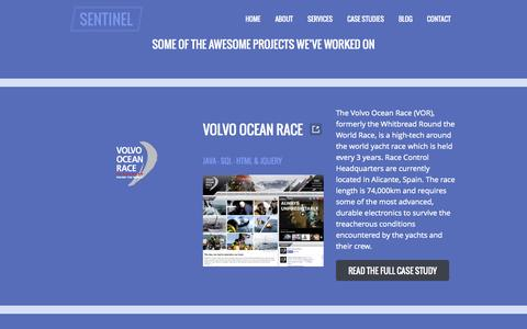 Screenshot of Case Studies Page sentinelactive.com - Case Studies - SentinelActive - captured Oct. 5, 2014