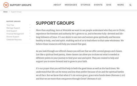 Screenshot of Support Page westsidechurch.org - Westside Church in Bend, Oregon | Life. Love. Jesus. - captured Oct. 5, 2018