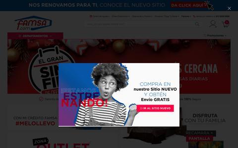 Screenshot of Home Page famsa.com - Famsa.com® - Comprar en Línea es Fácil, Rápido y Seguro ✔ - captured Dec. 15, 2019