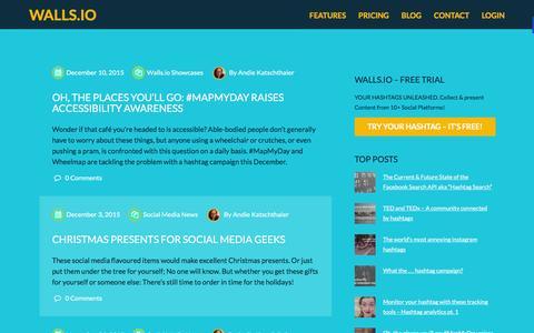 Screenshot of Blog walls.io - Your Hashtags Unleashed |Walls.io Blog - captured Dec. 14, 2015