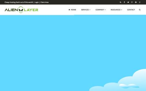 Screenshot of Home Page alienlayer.com - Cheap VPS, Web and Reseller Hosting | AlienLayer - captured Sept. 25, 2014