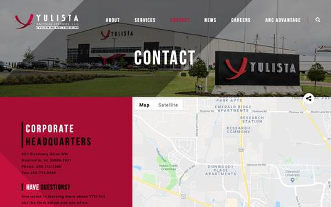Screenshot of Contact Page yulista.com - Contact | Yulista Tactical Services - captured Oct. 23, 2018