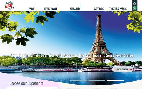 Screenshot of About Page Contact Page FAQ Page Terms Page paris-trip.com - Paris Trip :: Tours in France, Paris and Versailles - captured Dec. 7, 2018