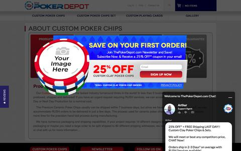 Screenshot of About Page thepokerdepot.com - About ThePokerDepot.com Custom Poker Chips and Poker Chip Sets - captured Nov. 2, 2018