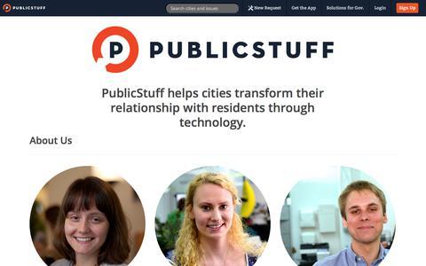 Screenshot of About Page publicstuff.com - PublicStuff ~ About - captured Sept. 12, 2014