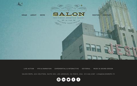 Screenshot of Home Page salonreps.tv - Salon - captured Sept. 24, 2015