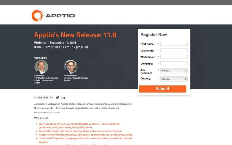 Apptio's New Release: 11.8