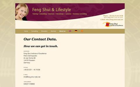 Screenshot of Contact Page feng-shui-web.net - Contact   Feng Shui Ausbildung und Beratung - captured June 11, 2016