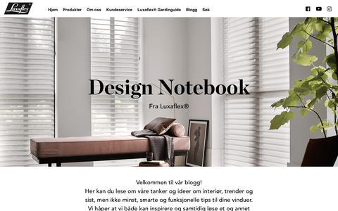 Screenshot of Blog luxaflex.no - Luxaflex | Design Notebook - captured July 27, 2018