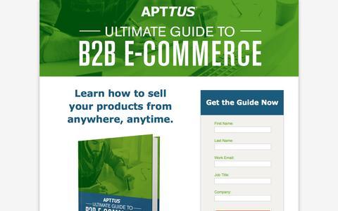 Screenshot of Landing Page apttus.com - Ultimate Guide to B2B E-Commerce - captured Sept. 27, 2016