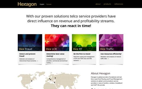 Screenshot of Home Page hex-group.com - Hexagon - captured Oct. 3, 2014