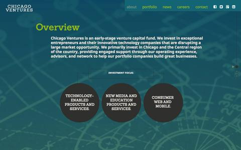 Screenshot of About Page chicagoventures.com - About Chicago's Top Venture Capital Firm | Chicago Ventures | Chicago Ventures | Venture Capital Firm Based In 1871 - captured Sept. 29, 2014