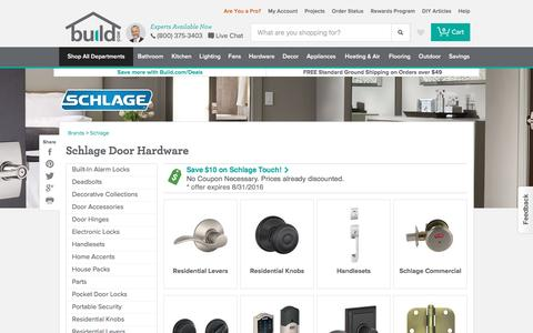 Schlage Door Hardware @ Build.com