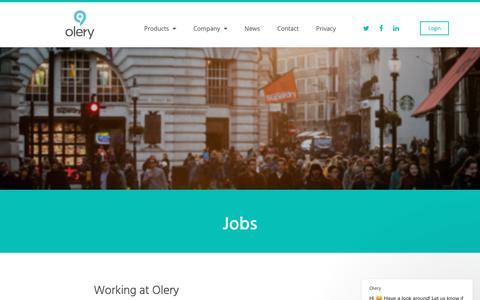 Screenshot of Jobs Page olery.com - Olery says… - captured Nov. 4, 2018