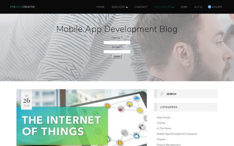 Screenshot of Blog fivepackcreative.com - Mobile App Development Company - captured Aug. 15, 2018