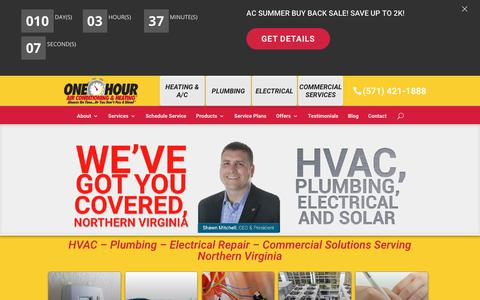 Screenshot of Home Page modernmec.com - HVAC - Plumbing - Electrical Repair | Modern Mechanical - captured July 21, 2018