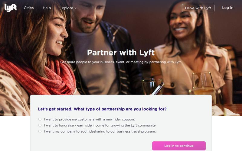 Screenshot Partnerships - Lyft