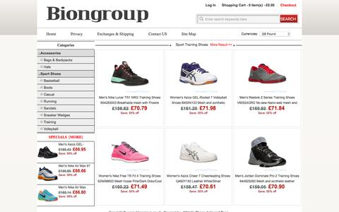 Screenshot of Home Page biongroup.co.uk - biongroup.co.uk: Save 60% off - Athletic Shoes ,hats and Bags & Backpacks Free Shipping on Select Items Home - captured Feb. 16, 2016