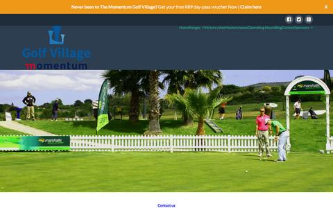 Screenshot of Contact Page thegolfvillage.co.za - Contact - The Golf Village - captured Jan. 23, 2016