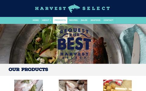 Screenshot of Products Page harvestselect.com - Products Archive - Harvest Select - captured Oct. 29, 2016