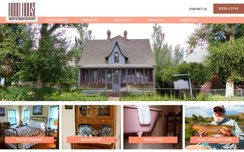 Screenshot of Home Page Maps & Directions Page hoodhousebnb.com - The Historic Hood House in Saratoga, Wyoming - Comfortable Stay a few blocks from Hot Pools and R - captured Oct. 31, 2018