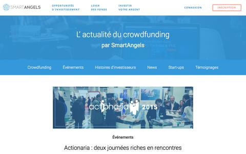 Screenshot of Press Page smartangels.fr - News - SmartAngels - captured Nov. 26, 2015