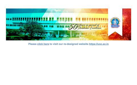 Screenshot of Home Page universityofcalicut.info captured Dec. 13, 2018