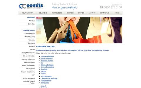 Screenshot of Support Page eemits.co.uk - Eemits Communications - captured Oct. 2, 2014