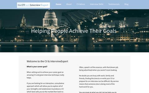 Screenshot of Home Page thecvandinterviewexpert.co.uk - CV Advice & Interview Training - captured Oct. 24, 2017
