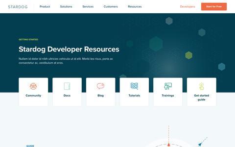Screenshot of Developers Page stardog.com - Developers - captured Sept. 6, 2019