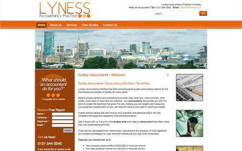 Screenshot of Home Page dudleyaccountants.co.uk - Dudley Accountants | Accountancy | Tax Advice - captured Oct. 3, 2014