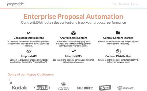 Enterprise Proposal Software: Proposable